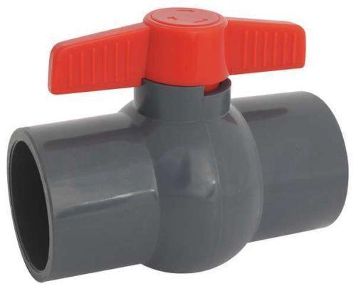 PVC Ball Valve 2 Way Red Handle